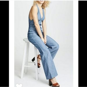 New free people dance all night chambray j…